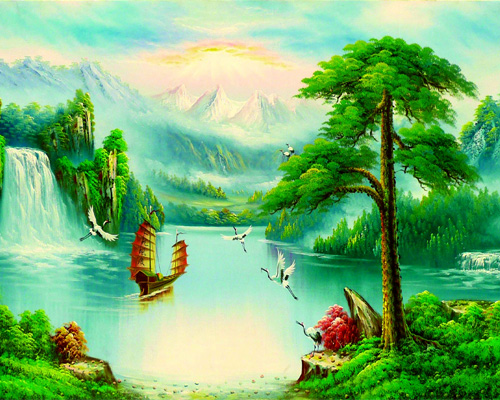 Các biểu tượng bạn có thể sử dụng là hình ảnh về rùa, tranh ảnh về sông hồ, thác nước hoặc thuyền buồm…