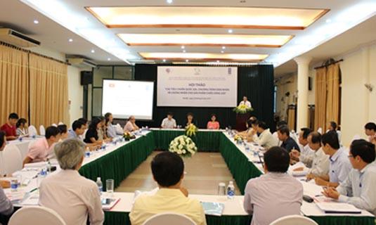 """Ngày 24/8/2017, tại Hà Nội, Ban Quản lý Dự án, Trung tâm Phát triển công nghệ cao đã phối hợp với Viện Tiêu chuẩn Chất lượng Việt Nam thuộc Tổng cục Tiêu chuẩn Đo lường Chất lượng Việt Nam, Bộ Khoa học và Công nghệ Việt Nam (MOST), Vụ Khoa học Công nghệ và Tiết kiệm Năng lượng, Bộ Công Thương (MOIT) tổ chức Hội thảo tham vấn góp ý để hoàn thiện các đề xuất về """"Một số tiêu chuẩn quốc gia, chương trình dán nhãn và chứng nhận cho sản phẩm chiếu sáng LED""""trước khi trình MOST và MOIT xem xét ban hành và thực hiện."""
