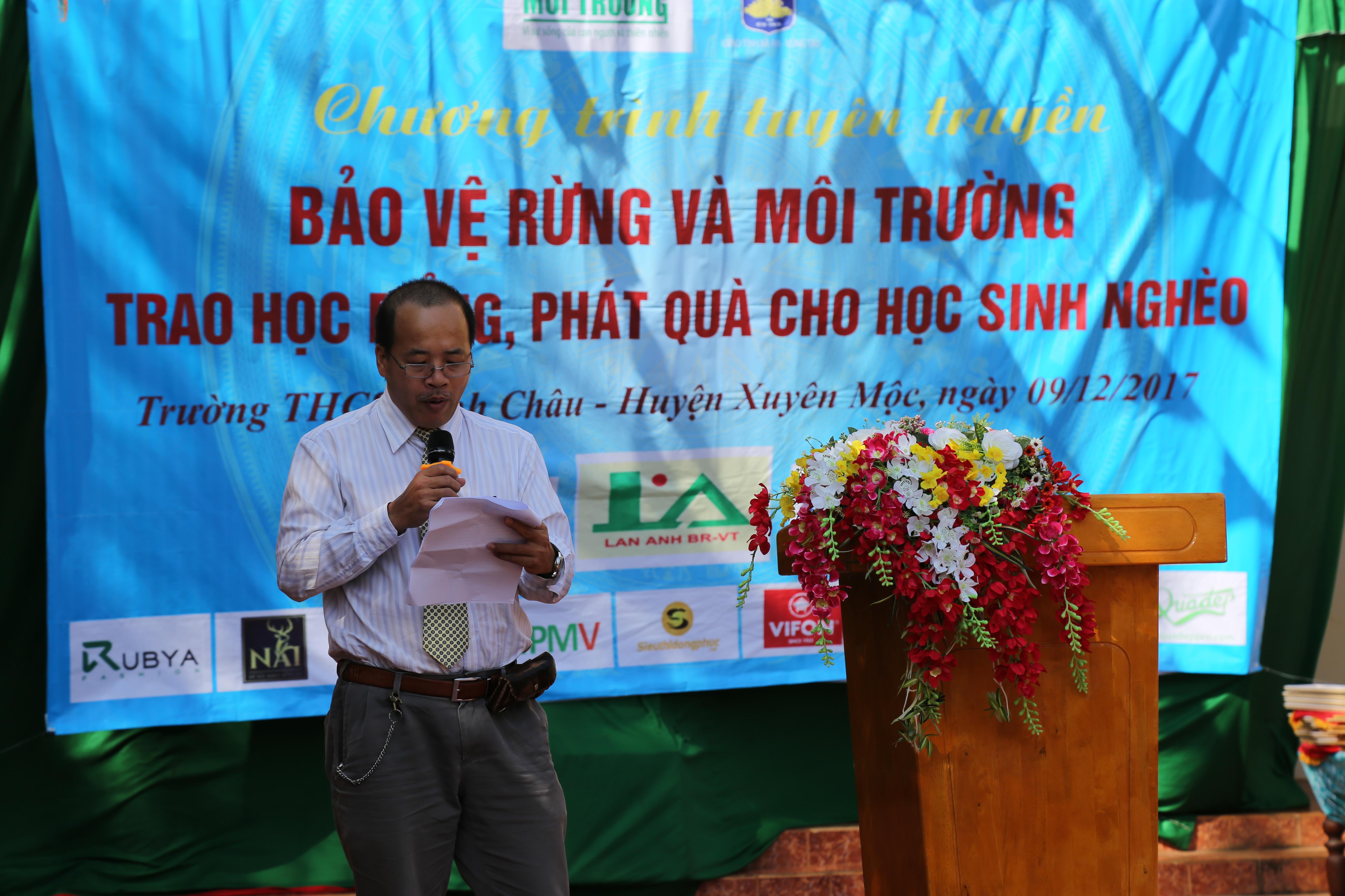 Ông Đặng Sơn Hải, Phó Giám đốc sở TN&MT tỉnh Bà Rịa - Vũng Tàu.