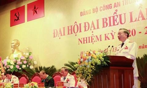 Đại tướng Tô Lâm phát biểu khai mạc Đại hội