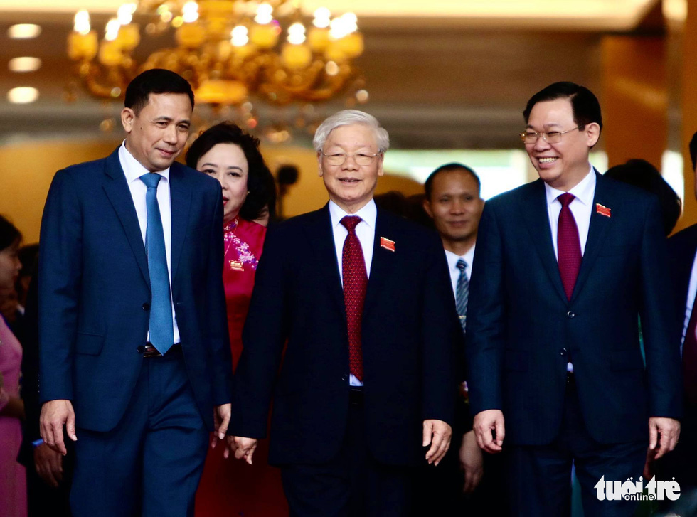 Tổng bí thư, Chủ tịch nước Nguyễn Phú Trọng dự, chỉ đạo Đại hội Đảng bộ Hà Nội lần thứ XVII nhiệm kỳ 2020-2025 - Ảnh: NGUYỄN KHÁNH