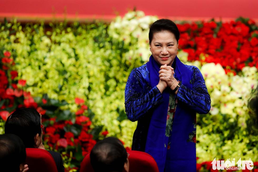 Chủ tịch Quốc hội Nguyễn Thị Kim Ngân đến dự Đại hội Đảng bộ TP Hà Nội lần thứ XVII nhiệm kỳ 2020-2025 - Ảnh: NGUYỄN KHÁNH