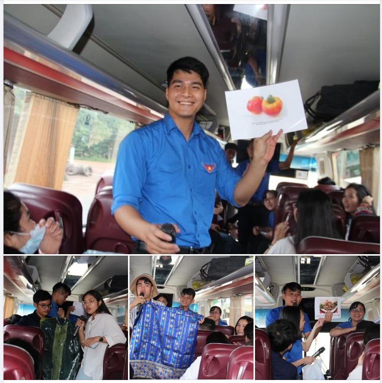 Lịch sử, văn hóa của các nước ASEAN đã được bạn trẻ ba nước Đông Dương cùng khám phá qua game show đầy hấp dẫn được tổ chức khi di chuyển trên xe.