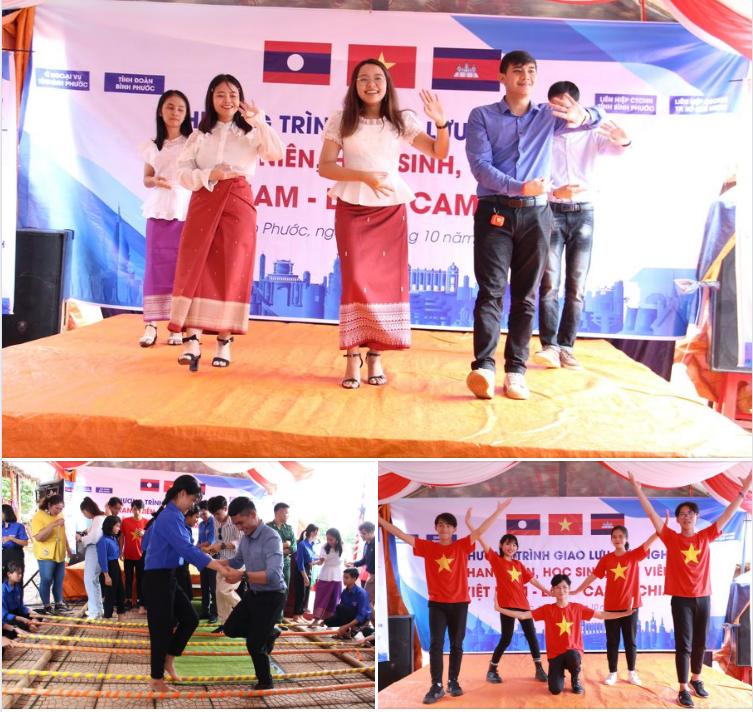 Những lời hát, điệu múa đầy sinh động đã được bạn trẻ 03 nước Đông Dương cùng thể hiện