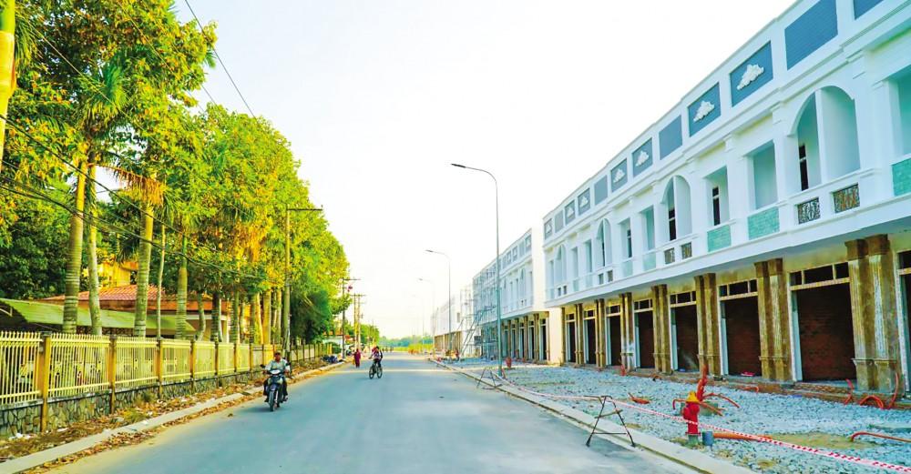 Nhà ở liên kế tại khu đô thị mới huyện Thới lai do Công ty Cadif làm chủ đầu tư