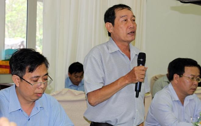 Ông Lê Đắc Cảnh, Phó Chánh Thanh tra TP Cần Thơ thông tin về kết luận thanh tra tại dự án Khu đô thị mới huyện Thới Lai.