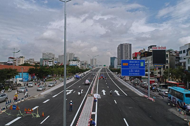 Tuyến đường đưa vào khai thác sẽ góp phần giải quyết giảm ùn tắc giao thông khu vực đường vành đai 3